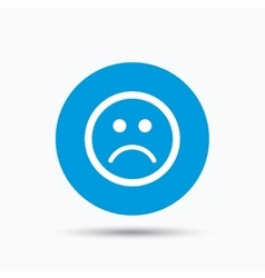 Sad smiley icon bad feedback sign vector