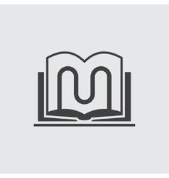 Book stand icon vector image