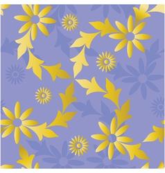 seamless golden blue vector image