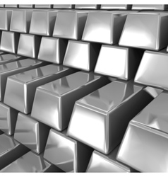 Silver bars vector image