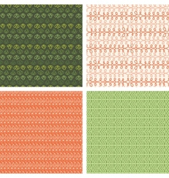 Set of four abstract stripes horizontal seamless vector image