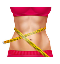 Female athletic waistline 3d vector