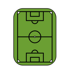 Color image cartoon soccer field grass vector