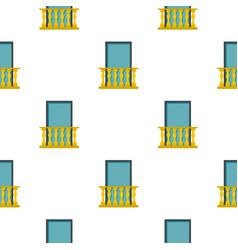Balcony pattern flat vector