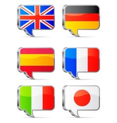Speech bubbles flags vector image