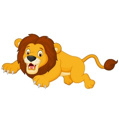 Cartoon lion jumping vector