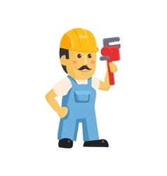 Clipart picture of a male mechanic cartoon vector