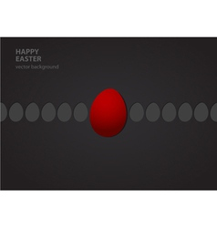 Easter eggs in row vector