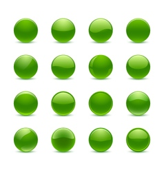 Green round buttons vector