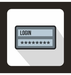 Login and password icon flat style vector