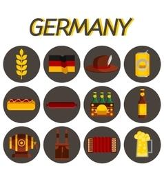 Germany flat icon set vector