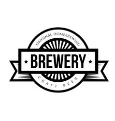 Brewery vintage logo vector image