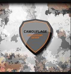 camouflage grey background vector image vector image