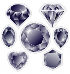diamonds labels vector image vector image