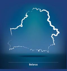 Doodle map of belarus vector