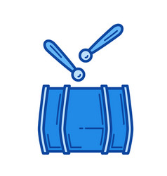 drum line icon vector image
