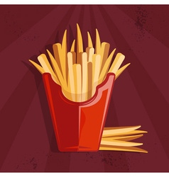 Fast food with fries vector