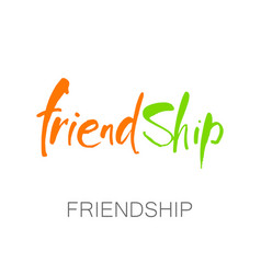 Friendship lettering template vector