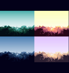 light jungle landscapes collection vector image