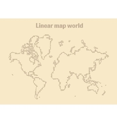 Map of Earth linear vector image vector image