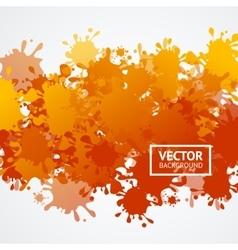 Orange drop blot background vector