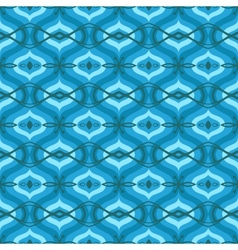 Pattern with arabic motifs in shades of blue vector