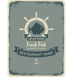 restaurant with seafood and fish shops vector image