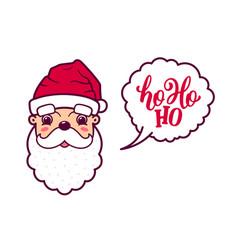 Santa claus cute face says ho ho ho vector