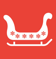 santa sleigh glyph icon new year and christmas vector image vector image
