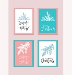 Set of abstract hand drawn universal brush cards vector