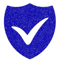Shield valid icon grunge watermark vector