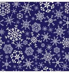 snowflakes dark blue pattern eps10 vector image vector image