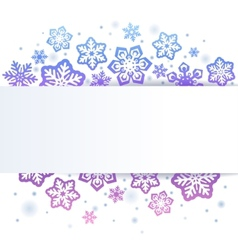 Snowflakes on white Christmas background vector image