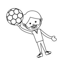 soccer player icon image vector image