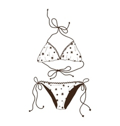 Swimsuit isolated on white vector image vector image