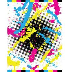 cymk grunge vector image
