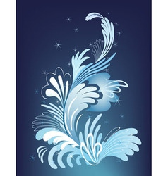 Abstract winter design vector