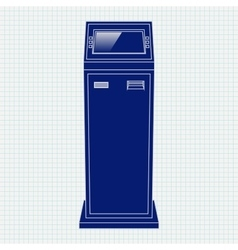 Payment kiosk web icon vector
