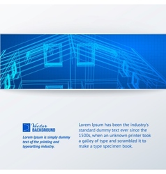 Abstract building banner vector