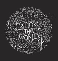 explore the world vector image