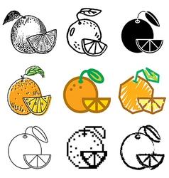 icons orange vector image