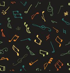 Varicolored seamless music pattern vector