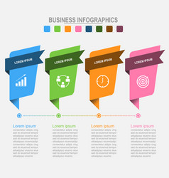 Four banners for infographics business concept vector