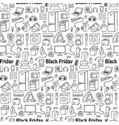 Black friday household seamless pattern vector