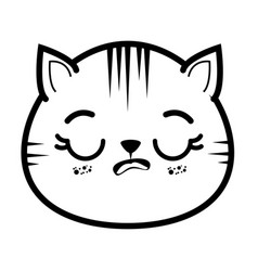 Isolated cute cat face vector