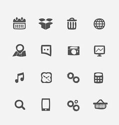 Different application icons set vector