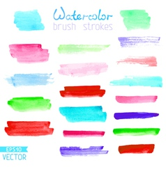 Set of hand-painted brush strokes vector