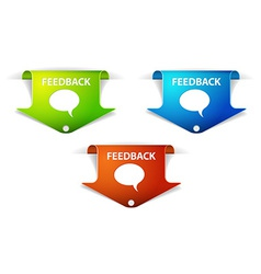 Feedback arrow labels stickers vector