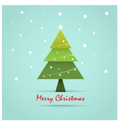 Christmas postcard template vector
