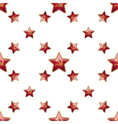 Universal badge soviet union stars seamless vector